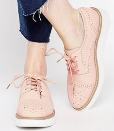 Blush oxfords go with ANY outfit.