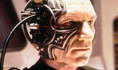 Patrick Stewart as Locutus of Borg in Star Trek: The Next Generation. Heavy Metal, Star Trek Borg, Star Wars, Resistance Is Futile, Star Trek Universe, Fictional World, Retro Futurism, Big Star, Sci Fi