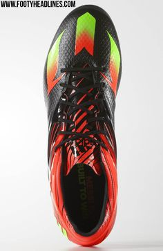 brand new e0550 068bf The new black   red Adidas Messi Football Boot features an extremely bold  design. Leo Messi is set to wear the new Black   Solar Red   Green Adidas  Messi ...