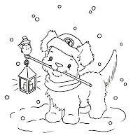 Sliekje digi Stamps: Winter puppy