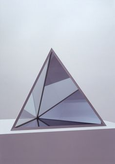 ... Projection surface during the day. Dan Graham, Pyramid, 1999.
