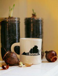 Virginia home. Ceramic Coffee Mug by HomeStateApparel on Etsy