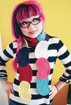 Jelly Bean Scarf #Crochet