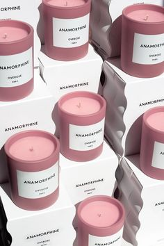 Overose branding and packaging Packaging Box, Candle Packaging, Candle Labels, Candle Jars, Brand Packaging, Product Packaging Design, Beauty Packaging, Product Design, Soy Candles