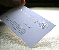 Gold Hot Foil Business Cards Embossing Dorure Cartes De Visite En Relief
