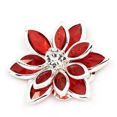 Rhinestone Flower Gem Flower Flower by LowCostCraftSupplies #rhinestoneflower #redflower #jewelleryconnector #redfindings #jewelleryfindings #jewelryfindings #jewellerymaking #jewelrymaking #craftsupplies #etsyuk #etsyukseller #redapplique #redembellishment