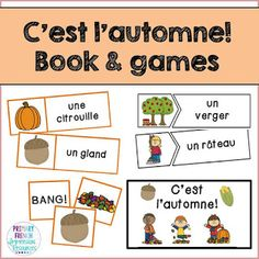 Check out a variety of French resources with fall themed vocabulary! Great for teaching fall vocabulary to Core French and French Immersion students! Spanish Teaching Resources, French Resources, Teaching Materials, Classroom Resources, Teaching French, Teaching English, French Worksheets, Science Vocabulary, French Education