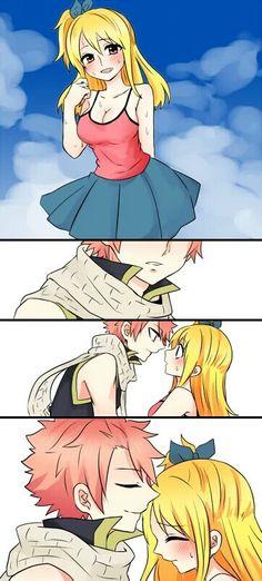 Fairy Tail. Nalu so sweet! by @bellrin10 via Twitter