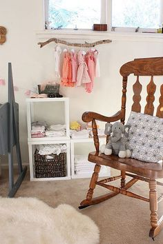 love these three cubes as shelves.