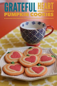 Grateful Heart Thanksgiving Cookies