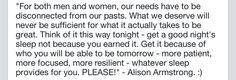 Alison Armstrong, disconnect, be present, quotes, inspiration