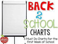 3 MUST make charts for the first week of school! Includes a FREEBIE to help get started!