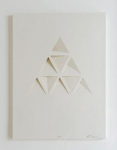 __Ghostly Process Series: Triangels Extruded,  paper, 2010 by Matt Shlian