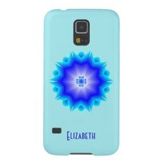 Floral Psychedelic Mandala Blue Phone Case Galaxy S5 Cases