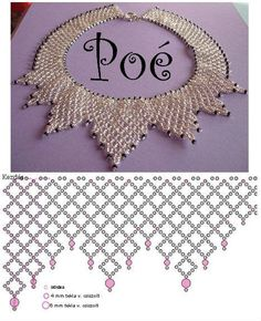 """Free Pattern: Necklace """"Silver Rain"""" featured in Bead-Patterns.com Newsletter!"""