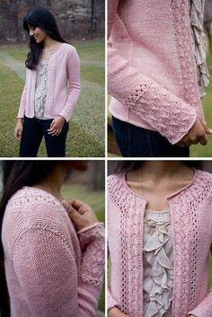 Alexandria Cardigan:  http://www.ravelry.com/patterns/library/alexandria-cardigan  A lace cardigan with pretty sleeve details. via @spacecadetcreat