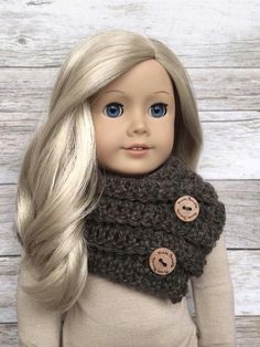 DIY Crochet Pattern  18 inch Doll Cocoa Cowl and by FuzzyBundle