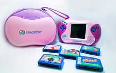 LeapFrog Leapster 2 Learning System Handheld Console Pink with Games & Case #LeapFrog