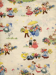 Vintage All Occasion Wrapping Paper Vintage Wrapping Paper, Gift Wrapping Paper, Vintage Paper, Wrapping Ideas, Wrapping Papers, Retro Fabric, Vintage Fabrics, Vintage Patterns, Vintage Greeting Cards