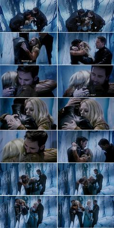 Can we just talk about this moment because i don't know why but this was a major captain swan moment for me because as Emma was coming out of the ice cave David was ready to hug and warm up his daughter but then when she comes out she hugged Killian instantly without thinking it was almost instinct . She chose Killian over her father cuz she could her in his voice when she was trapped that he was worried for her