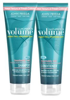 John Frieda Luxurious Volume for Colour-Treated Hair Touchably Full Shampoo and Conditioner 8.45 fl oz Bundle *** Learn more by visiting the image link.
