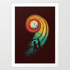 Journey of a thousand miles Art Print by Budi Satria Kwan - $19.97