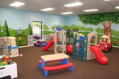 Worlds of Wow - This toddler play room is beautifully themed at White's Ferry Church of Christ in West Monroe, LA.