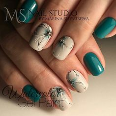 elegant autumn nail designs have to try blackish green floral stiletto nails inspo 24 ~ thereds.me : elegant autumn nail designs have to try blackish green floral stiletto nails inspo 24 ~ thereds. Manicure Nail Designs, Nail Manicure, Nail Art Designs, Gel Nail, Hallographic Nails, Green Nail Designs, Nails 2016, Nail Glue, Uv Gel