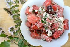 Watermelon Salad: Sweet and savory with a pinch of #Kampot pepper from #Cambodia.