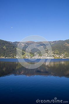 View To Zell Am See Lake Zell & Kitzsteinhorn Stock Photo - Image of vacation, autumn: 60256906 Zell Am See, Salzburg, Autumn Fall, Alps, My Images, Sunny Days, Austria, Colorful, Seasons