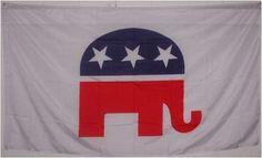 Republican Elephant Flag - - - 3x5 GOP Political party banner by WILDFLAGS. $5.49. REPUBLICAN 3x5 GOP Political party banner