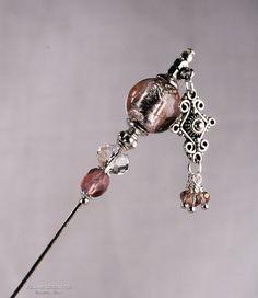 Plum Stick Pin Amethyst 3 Inch Charm Stick Pin by KillamCreative, $6.00