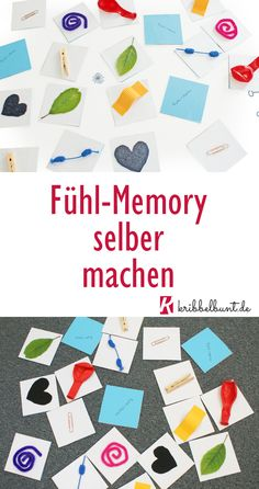 Make memory yourself – sensor game for children – Montessori ideas - Kinderspiele Ideen Montessori Education, Montessori Materials, Montessori Activities, Baby Games, Games For Kids, Diy For Kids, Crafts For Kids, Textiles, About Me Blog