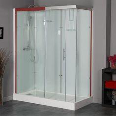 Meuble de salle de bain double vasques 120 cm colonne miroir milano chambres et sdb pinterest Cabine de douche ikea