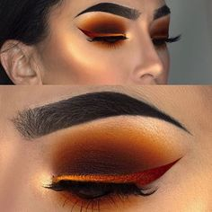 WEBSTA @makeupaddictioncosmetics If this doesn't scream Fall, not sure what does! @littledustmua created this perfect warm eye look!! Who's inspired?! We sure are
