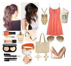 """going to starbucks"" by manakda on Polyvore featuring Madden Girl, Straw Studios, Topshop, With Love From CA, Ray-Ban, Decree, Bling Jewelry, ORLY, Dolce&Gabbana and Stella & Dot"