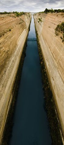 """""""The Corinth Canal, Greece."""" Photography by Tom Hanslien posters, art prints, canvas prints, greeting cards or gallery prints. Find more Photography art prints and posters in the ARTFLAKES shop. Greece Photography, Art Photography, Travel Photography, Corinth Canal, Greece Art, Art Prints Online, Places To See, Around The Worlds, Country Roads"""