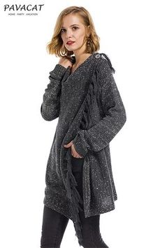 adc8fa5faad3 Pavacat Tassel Asymmetrical Hem Shawl Speckled Fringe Cardigan - Pavacat -  Trendy Fashion Style Women's/
