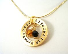 Good for school colors or mom necklace with kid names & birthstones
