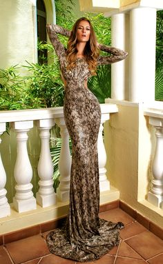 Snaky Evening Gown, Night Gown. ♡ SL