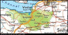 Map - Somerset, England