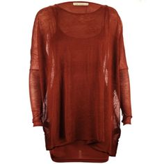 This jumper is created using 100% acrylic. It is a soft fabric and beautiful fit.  Two tops in one. Long singlet top underneath an soft oversized long sleeve top.  Gorgeous yet comfy top for the winter!
