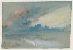 Joseph Mallord William Turner, 'Sea and Sky?, English Coast' (J. Turner: Sketchbooks, Drawings and Watercolours) Joseph Mallord William Turner, Turner Painting, Painting & Drawing, Watercolor Landscape Paintings, Watercolor And Ink, Art Romantique, Turner Watercolors, Painting Inspiration, Sketches