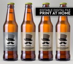 Will You Be My Groomsman, Will You Be My Best Man, Custom Beer Labels, Tuxedo Beer Labels, Editable Beer Labels, Instant Download Be My Groomsman, Groomsmen, Custom Beer Labels, Timothy Drake, A Good Man, Tuxedo, Beer Bottle, Special Day, I Am Awesome