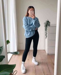 Casual College Outfits, Cute Lazy Outfits, Basic Outfits, Sporty Outfits, Casual Winter Outfits, Winter Fashion Outfits, Simple Outfits, Stylish Outfits, Cute School Outfits