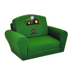 Kidz World Furniture John Deere - Green Boys Sleepover Sofa - KWF-1850-1-JDG. Kidz World Furniture John Deere - Green Boys Sleepover Sofa - KWF-1850-1-JDG This versatile Sleep_Sofa is not to be confused with the competitions foam furniture. Rather, this sofa is constructed using a mixed h.. . See More Sleepover Sofas at http://www.ourgreatshop.com/Sleepover-Sofas-C1001.aspx