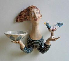 Helen Kemp - Girl  Bird Sconce. 2013