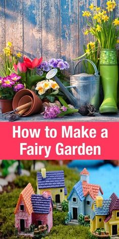 Learn how to make a Fairy Garden! This fun garden activity is a wonderful way to get creative with kids this spring. You can make a fairy garden outdoors or indoors, in a fancy flower pot or a simple box. The ideas are endless! #ad