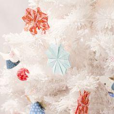 SalonCSF Créations et savoir faire 2014 - paperboat.fr, christmas tree, white, origami, diy