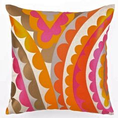 Pink and orange pillow from Trina Turk.